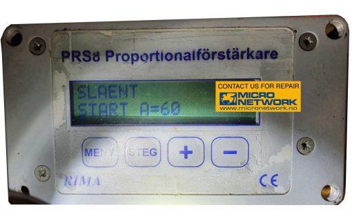 Rima_PRS8_proportionalforstarkare_reparasjon